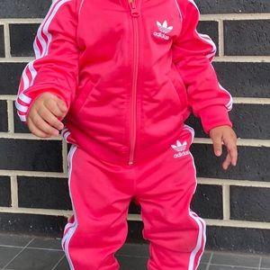 Toddler adidas suit pink